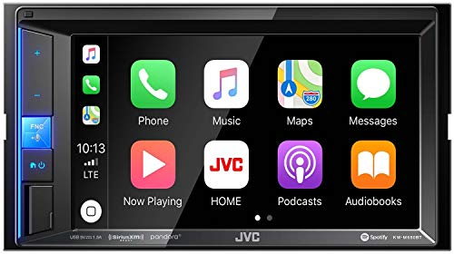 JVC KW-M650BT Digital Media Receiver with Bluetooth, 6.2'' Touch Screen & Apple CarPlay Compatible
