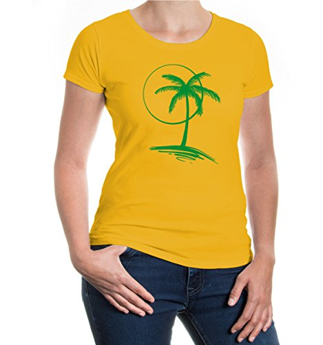 buXsbaum® Girlie T-Shirt Vacation Time V2 sunflower