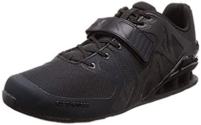 Inov-8 Mens Fastlift 335 - Powerlifting Weight Lifting Shoes - Wide Toe Box - Perfect for Squatting and Benching - Black/Black 8 M US