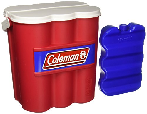 Coleman Company 12 Can Carry Chiller with Ice Substitute Cooler, Red