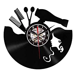 Glumes Vinyl Record Clock, Wall Clock Wash and Blow Tool Unique Home Room Wall Deco rHandmade Best Gift for Vinyl Record, Kovides, Beatles Birthday Gift, Unique Design