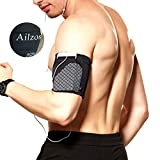 Ailzos Sports Running Armband,Lightweight Arm Band Strap Holder Pouch Comfortable Phone Armband Sleeve Exercise Workout Fits iPhone X/8/7 Plus/7/6,Samsung Galaxy S9/S8/S7,Sony,LG HTC,(Black,L)