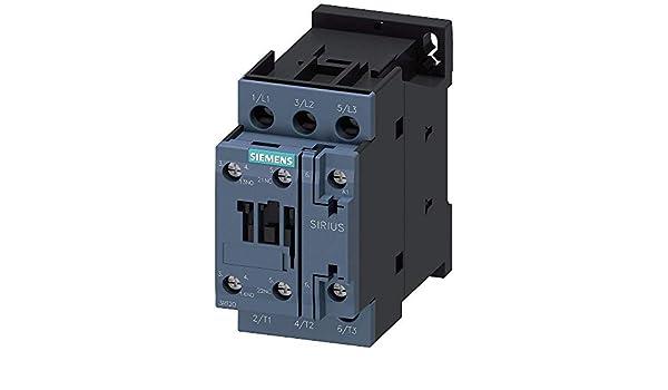 Siemens 3RT20171BB41 CONTACTOR 5.5KW//400V AC-3 SZ S00 SCREW TERMINAL 1NO 3-POLE DC 24V