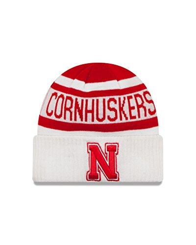 Nebraska Fan (NCAA Nebraska Cornhuskers Biggest Fan 2.0 Cuff Knit Beanie, White, One Size)