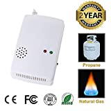 Propane and Natural Gas Detector, High Sensitive, Reliable Plug in Gas Alarm for Home/Kitchen/RV Stove Tops