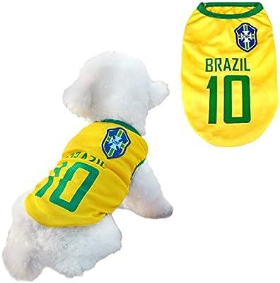 Trajes Perro Disfraz Gato Ropa para Perros Camiseta Fútbol Copa ...