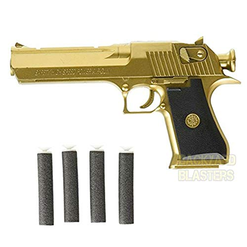 Backyard Blasters Golden Desert Eagle Toy Foam Dart Gun for Kids and Dart Gun Toy for - Gun Toy