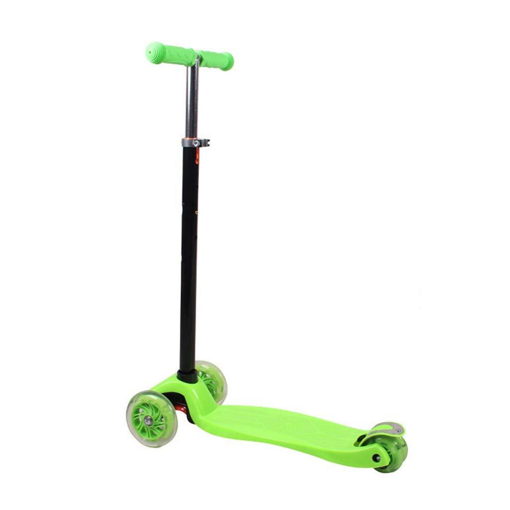 Rigel7 Kids Kick Scooter Adjustable Light Up Wheels LED Kids Push Kick Scooter Gift for Girls Boys (Green) by Rigel7