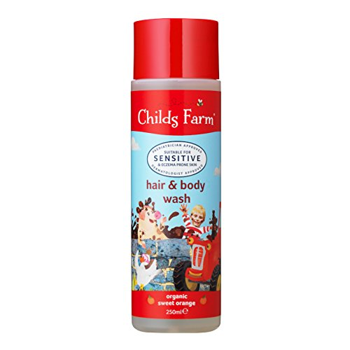 Childs Farm Caked in Mud! Organic Sweet Orange Hair & Body Wash for Dirty Rascals (250ml)