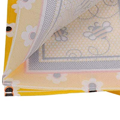 EBTOYS 100-Pack Disposable Paper Honeybee Napkins Party Tissue Napkins Birthday Party Tableware Christening Decoration: Toys & Games