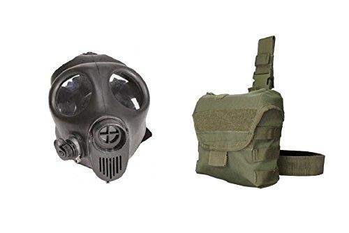 Israeli Small Gas Mask w/Filter and Drop Leg (Mask Leg)