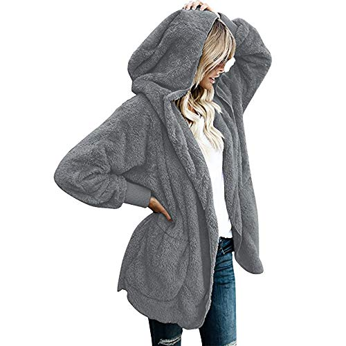 XOWRTE Women's Fall Winter Warm Ladies Parka Jacket Cardigan Overcoat Outwear Coat