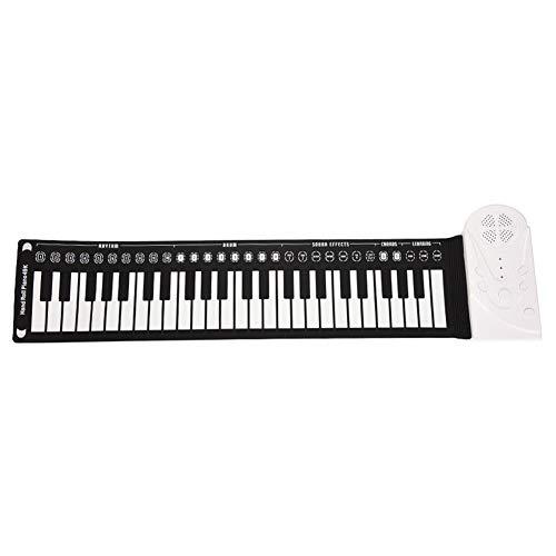 Piano flexible enrollable de 49 teclas, piano de música electrónico con altavoz fuerte, juguete educativo para niños...