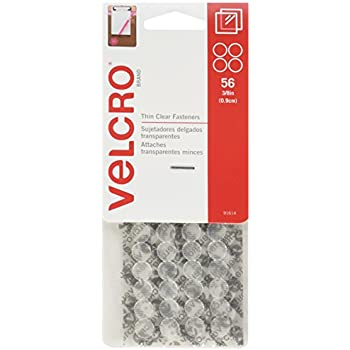 """VELCRO Brand - Thin Fasteners - Premated - 3/8"""", 56-Count - Clear"""