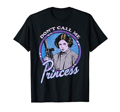 Star Wars Leia Don't Call Me Princess Badge Graphic T-Shirt