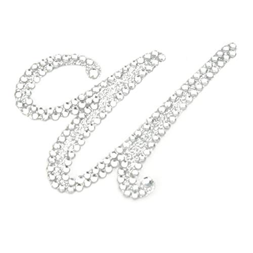 Rhinestone Alphabet Monogram Stickers Letter Initial Wedding Favor Invitation (Letter U) from Diamond Party Confetti