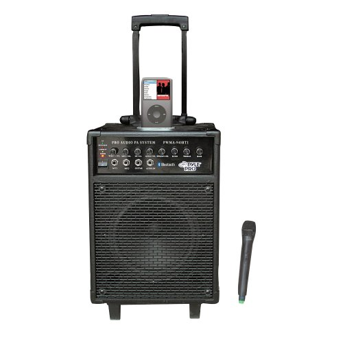 Pyle Speaker, Mic, Cable and Stand Package - PWMA940BTI 600 Watts VHF Wireless Portable PA System w/Microphone,i-Pod Dock & Bluetooth - PDMIK2 Professional Moving Coil Dynamic Handheld Microphone - PMKS5 Compact Base Black Microphone Stand - PPMCL50 50ft. Symmetric Microphone Cable XLR Female to XLR Male - PPFMXLR15 15ft. XLR Male to XLR Female Microphone Cable