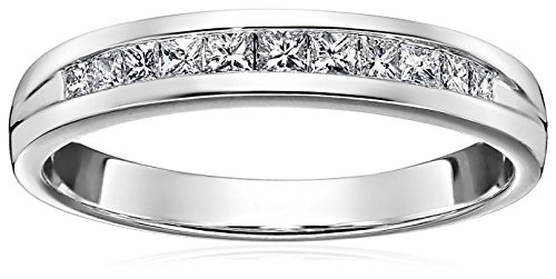 Princess Channel In 14k Gold Wedding Band (1/4cttw, H-I Color, I1-I2 Clarity)