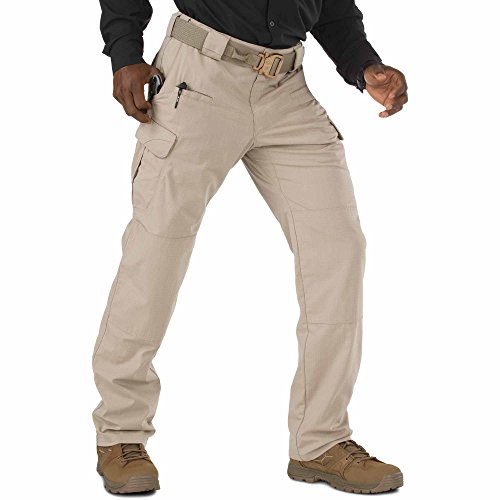 (5.11 Men's STRYKE Tactical Cargo Pant with Flex-Tac, Style 74369, Khaki, 34W x 32L)