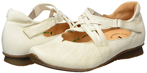 Chilli 28 Femme Blanc shell Cassé Ballerines Think qCdavq