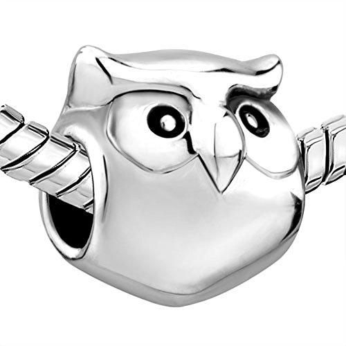 Image of CharmsStory Owl Wisdom Lucky Animal Charm Beads Charmss For Bracelets (