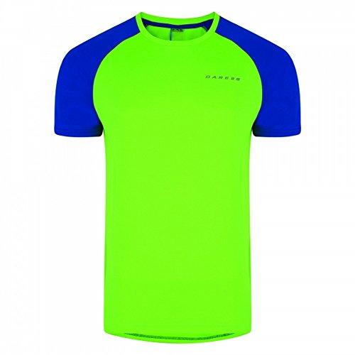 Dare 2b Mens Undermine Lightweight Short Sleeve T-Shirt (S) (Neon Green/National (Dare S/s Tee)