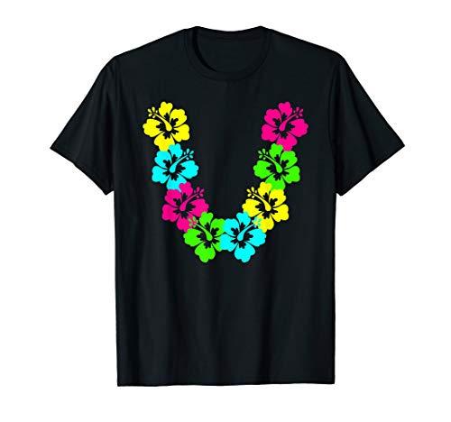 Hibiscus Lei T-Shirt Aloha Hawaii Luau Party Vacation Group