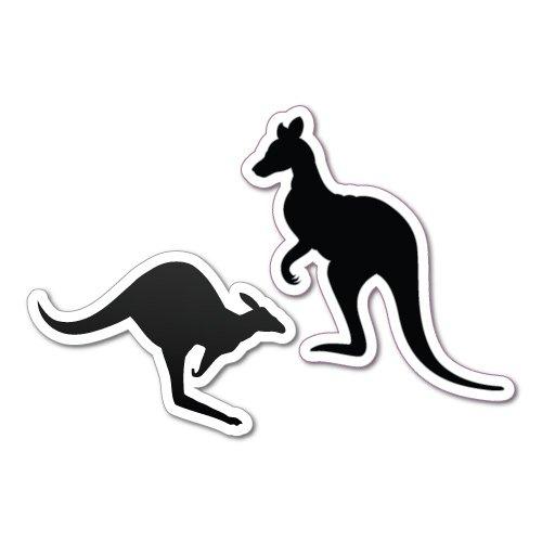 TWO KANGAROO FIGURES EUREKA Sticker Aussie Car Flag 4x4 Funny Ute