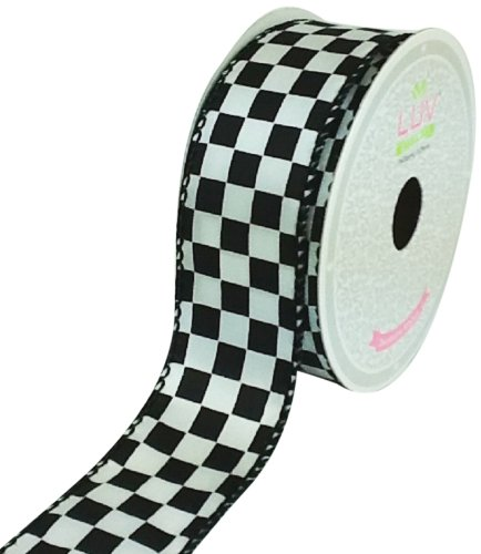 LUV RIBBONS Fabric Ribbon by Creative Ideas, 1-1/2-Inch, ...