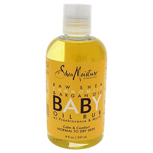 Shea Moisture Raw Shea Butter Baby Oil Rub, 8 Ounce