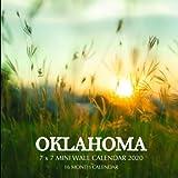 Oklahoma 7 x 7 Mini Wall Calendar 2020: 16 Month Calendar