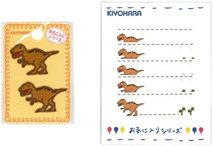 KIYOHARA お気に入り ティラノサウルス ミニワッペン ネームラベルSS セット MOW707S