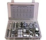 64 Pcs. JIC 37° Flare Cap & Plug Assortment Hydraulic Adapter Fitting''an'' Kit Set