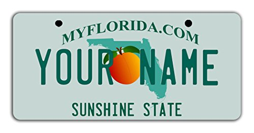 BleuReign(TM) Personalized Custom Name Florida State Bicycle Bike Moped Golf Cart 3
