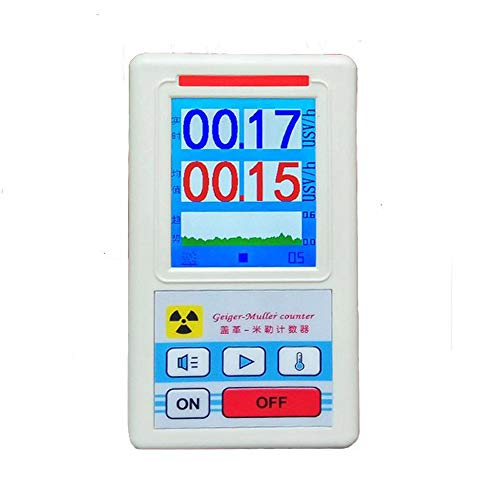 Nuclear Radiation Detector, KKmoon Display Screen Geiger Counter Nuclear Radiation Detector Personal Dosimeter Marble Detectors Beta Gamma X-ray Tester (Best Personal Geiger Counter)
