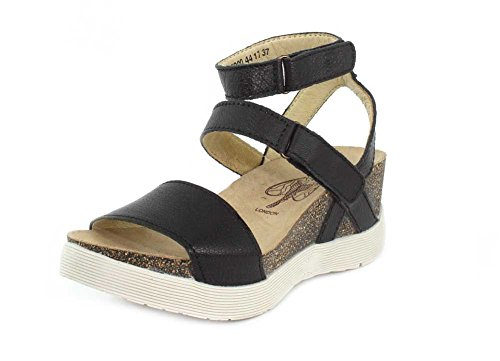London Fly Black Wedge Women's Mousse WINK196FLY Sandal aqCqRdwZ