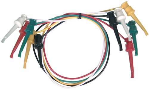 Elenco Electronics TL-21 Mini Grabber for IC TEST LEAD, RED, GREEN,YELLOW,BLACK,WHITE