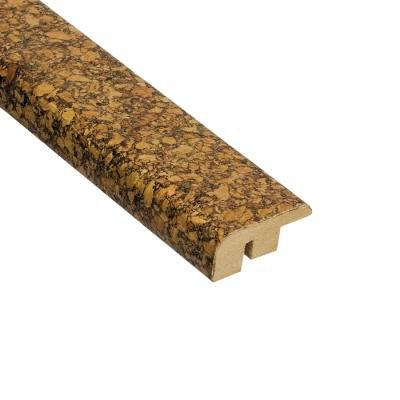 (Home Legend Natural Basket Weave 1/2 in. Thick x 1-7/16 in. Wide x 78 in. Length Cork Carpet Reducer Molding )