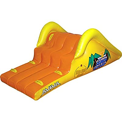 """Aviva RAVE Sports Slick Slider Island Pool Water Slide / 85""""L x 40""""W x 31""""D When Inflated: Toys & Games"""