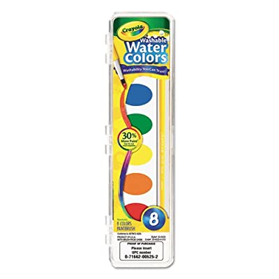 Washable Watercolor Paint, 8 Assorted Colors, Sold as 1 Each: Toys & Games