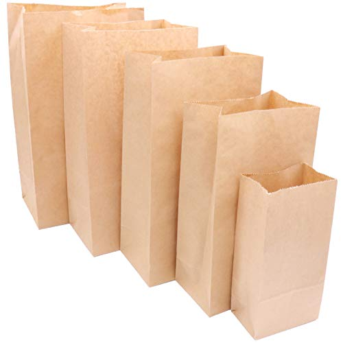 Majinz Store Paper Food Bag 50pcs Kraft Paper Food Bags Sandwich Bread Bags Cookies Biscuits Candy Packaging Wrapping Gift Bags Party Wedding Supplies -