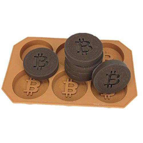 Longay 1pcs Bitcoin Ice lattice Freeze Mold Bar