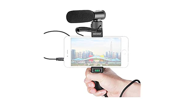 Neewer En-Cámara Escopeta Micrófono con Agarre Smartphone Kit: Amazon.es: Electrónica