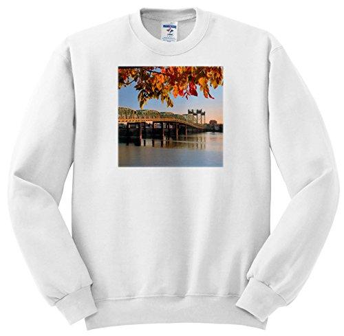 Price comparison product image 3dRose Danita Delimont - Bridges - USA, Oregon, Portland. I5 Bridge Crossing Columbia River In Autumn. - Sweatshirts - Youth Sweatshirt Large(14-16) (SS_279313_12)