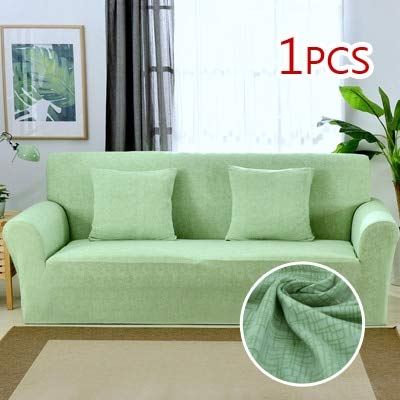 1pc copri divano for Living Room Tight Wrap All-Inclusive Slip-Resistant Sofa Cover Elastic Sofa Towel One Two Three Four-seate   Fruit Green, One Seater