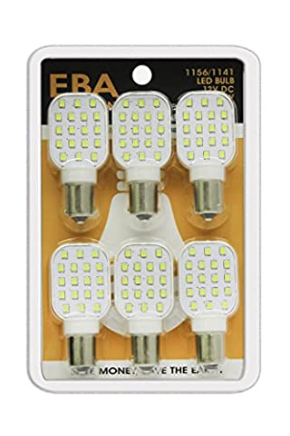 (1) 6 pk LED Replacement Bulb 1156/1141 Base Tower Natural White 12V115618 (total 6 bulbs) (1156 Led Bulb Replacement)
