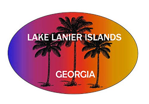 Lake Lanier Islands Georgia Trendy Souvenir Oval Decal (Lake Lanier Decal)
