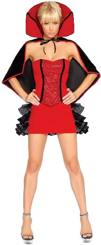 Vampiress Ruffled Skirt Adult Costumes (3Pc. Cruel Intentions Costume)