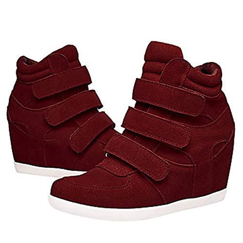 TTSHOES Nappa Wine UK7 CN41 Stivali Marrone Sneakers Zeppa Per Vino Comoda EU40 Blu US9 Primavera Donna Scarpe RtRqxZr