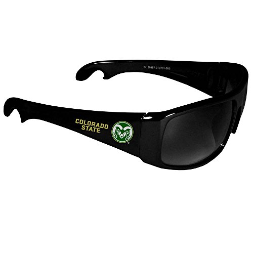 ms Wrap Bottle Opener Sunglasses, Black (Ncaa Colorado State Rams Glass)